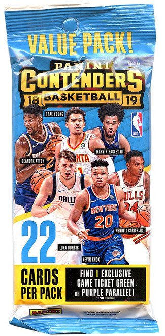 NBA Panini 2018-19 Contenders Basketball Trading Card VALUE Pack [22 Cards]