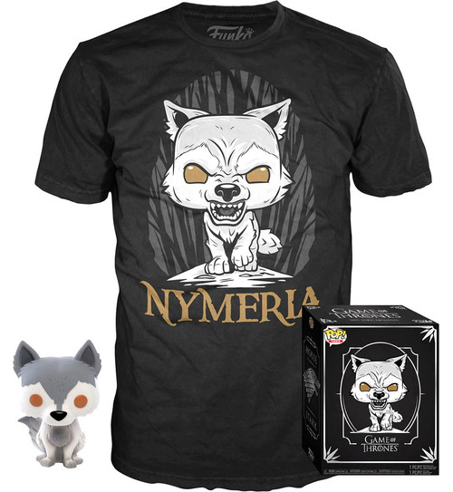 Funko Game of Thrones POP! TV Nymeria Exclusive Vinyl Figure & T-Shirt [X-Large]