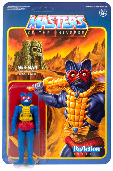 ReAction Masters of the Universe Mer-Man Action Figure [Carry Case Color]