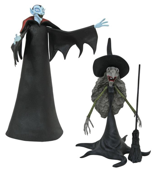 Nightmare Before Christmas Series 8 Small Vampire & Tall Witch Action Figure 2-Pack
