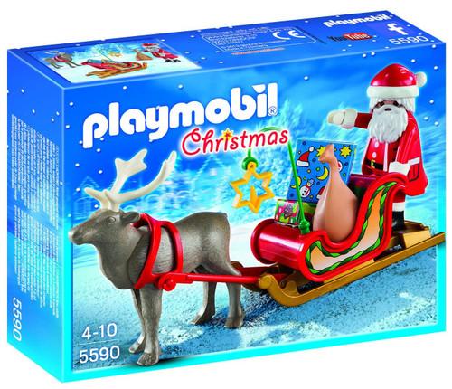 Playmobil Christmas Santa's Sleigh with Reindeer Set #5590