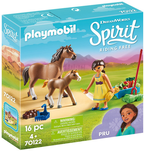 Playmobil Spirit Riding Free Pru with Horse & Foal Set #70122