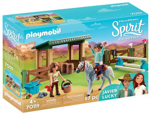 Playmobil Spirit Riding Free Riding Arena with Lucky & Javier Set