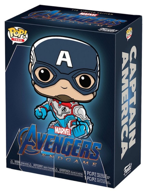 Funko Avengers Endgame POP! Marvel Captain America Exclusive Vinyl Figure & T-Shirt [XLarge]
