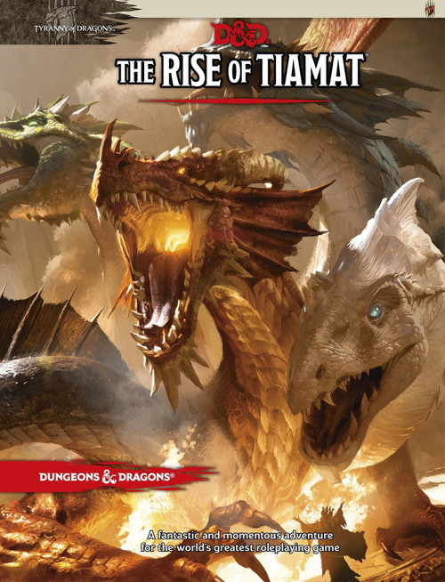 Dungeons & Dragons 5th Edition The Rise of Tiamat Hardcover Roleplaying Book