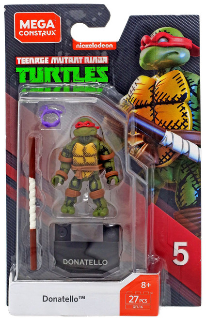 Mega Construx Teenage Mutant Ninja Turtles Heroes Series 5 Donatello Mini Figure