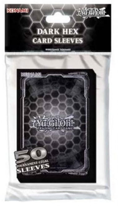 YuGiOh Trading Card Game Dark Hex Card Sleeves [50 Count]