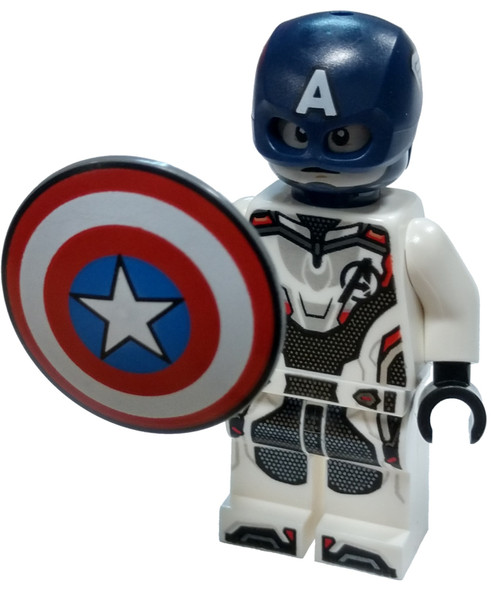 LEGO Marvel Super Heroes Avengers Endgame Captain America [White Jumpsuit, Helmet Loose]