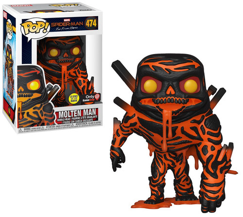 Funko Spider-Man Far From Home POP! Marvel Molten Man Exclusive Vinyl Figure #474 [Glow-in-the-Dark]