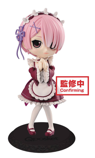 Re:ZERO -Starting Life in Another World- Q Posket Ram 4.7-Inch Collectible PVC Figure [Red Dress]