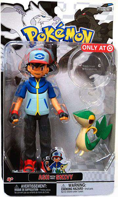 Pokemon Black & White Trainer Figures Ash with Snivy Exclusive Action Figure [Damaged Package]