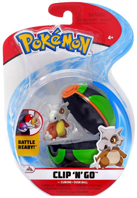 Pokemon Clip 'N' Go Cubone & Dusk Ball Figure Set