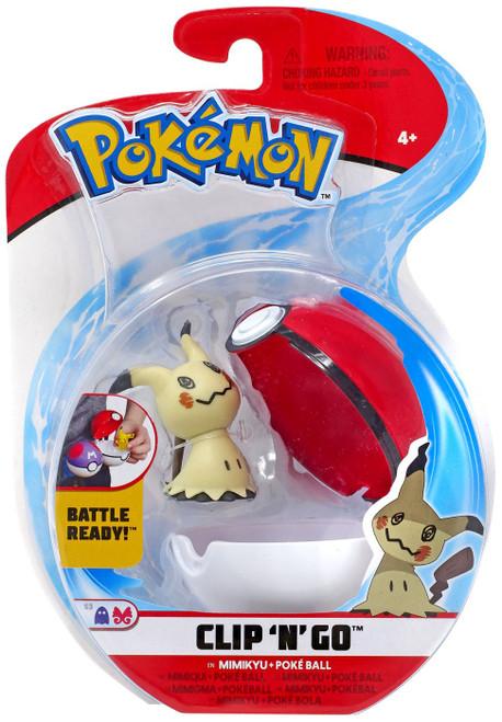 Pokemon Clip 'N' Go Mimikyu & Poke Ball Figure Set