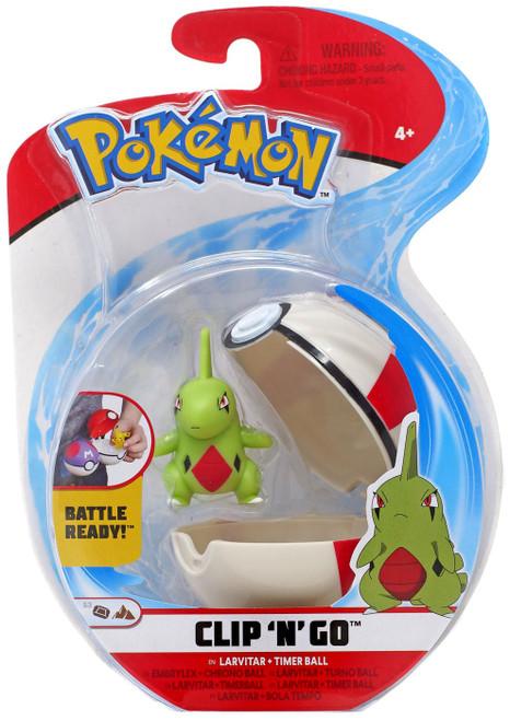 Pokemon Clip 'N' Go Larvitar & Timer Ball Figure Set