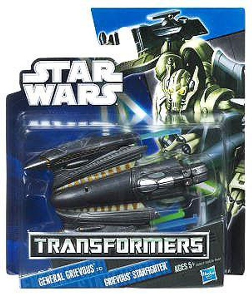 Star Wars Revenge of the Sith Transformers 2012 Class I General Grievous to Grievous' Starfighter Action Figure