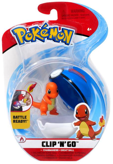 Pokemon Clip 'N' Go Charmander & Great Ball Figure Set