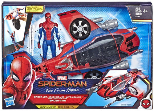 Marvel Far From Home Spider-Jet with Spider-Man Action Figure & Vehicle