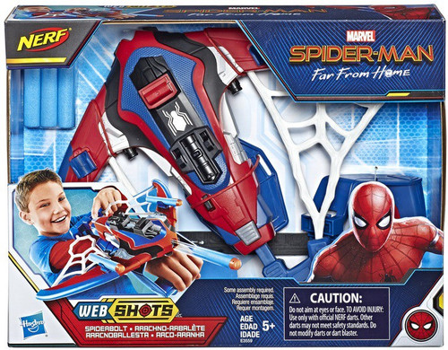 NERF Spider-Man Far From Home Web Shots Spiderbolt Blaster Roleplay Toy