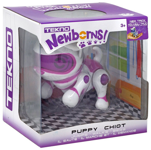 Tekno Newborns! Puppy Robotic Pet Figure [Purple]