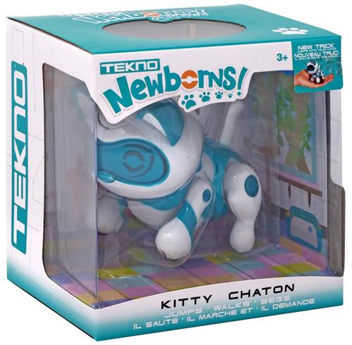 Tekno Newborns! Kitty Robotic Pet Figure [Teal]