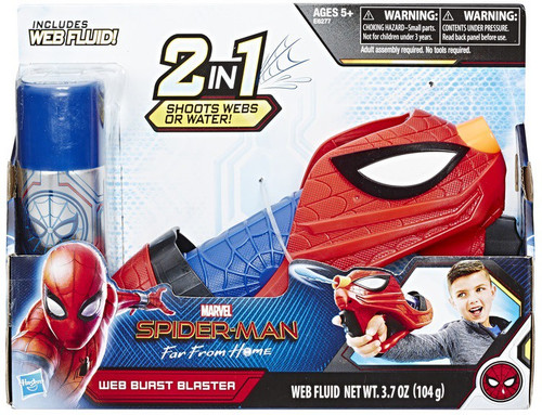 Marvel Spider-Man Far From Home Web Shots Web Burst Blaster Roleplay Toy