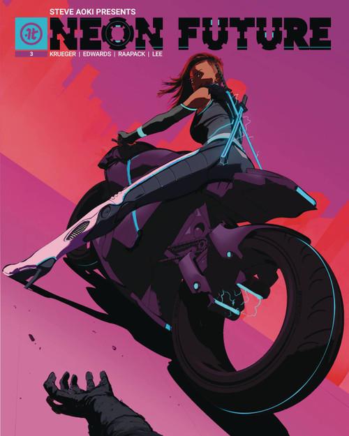 Impact Theory Neon Future #3 Comic Book [Maciej Kuciara Variant Cover C]