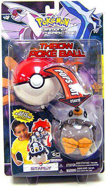 Pokemon Diamond & Pearl DP Series 1 Starly Throw Poke Ball Plush [Damaged Package]