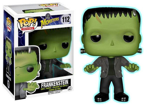 Funko Universal Monsters POP! Movies Frankenstein Exclusive Vinyl Figure #112 [Glow in the Dark, Damaged Package]