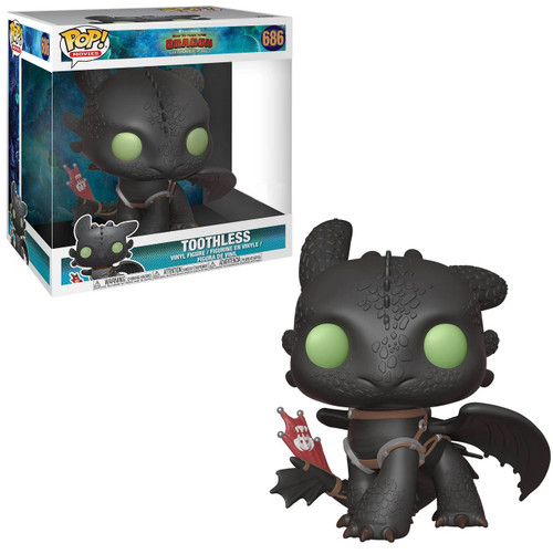 Funko How to Train Your Dragon The Hidden World POP! Movies Toothless Exclusive 10-Inch Vinyl Figure [Super-Sized, Damaged Package]