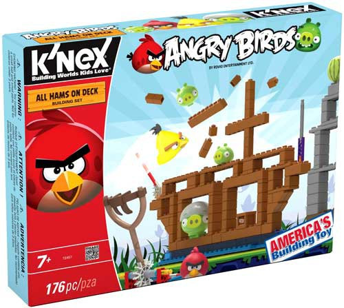 K'NEX Angry Birds All Hams On Deck Set #72457 [Damaged Package]