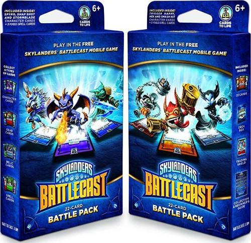 Skylanders Battlecast Set of Both Battle Packs [Damaged Package]