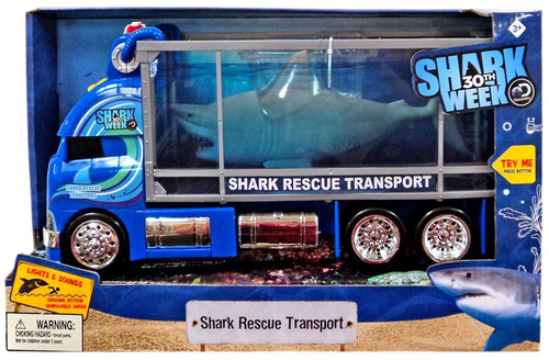 Discovery Shark Week 30th Shark Rescue Transport Vehicle [Lights & Sounds, Damaged Package]