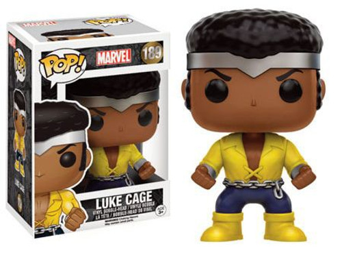 Funko POP! Marvel Power Man / Luke Cage Classic Yellow Costume Version Exclusive Vinyl Bobble Head [Damaged Package]