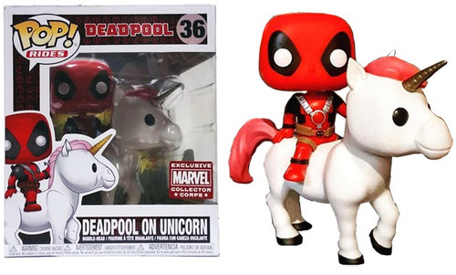 Funko Marvel POP! Rides Deadpool on Unicorn Exclusive Vinyl Figure #36 [Deadpool Box, Damaged Package]