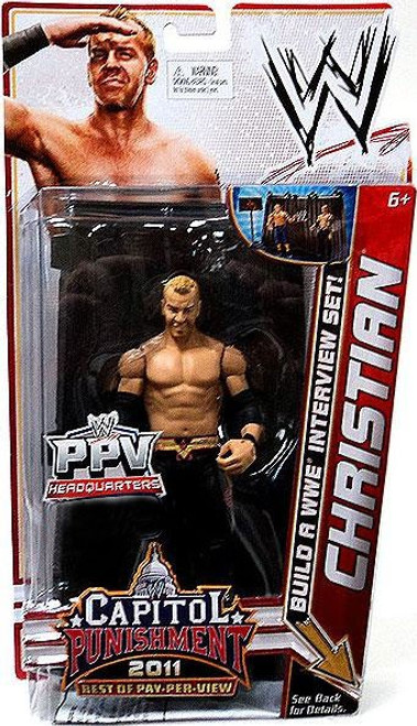 WWE Wrestling PPV Headquarters Christian Exclusive Action Figure [Build a WWE Interview Set, Damaged Package]