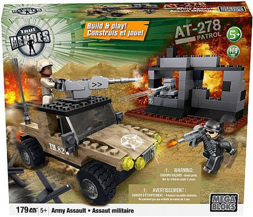 Mega Bloks True Heroes Build & Play AT-278 Patrol Army Assault Set [Damaged Package]