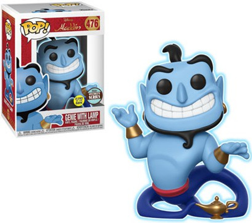 Funko Aladdin POP! Disney Genie with Lamp Exclusive Vinyl Figure #476 [Glow In The Dark Animated, Specialty Series, Damaged Package]