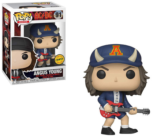 Funko AC / DC POP! Rocks Angus Young Vinyl Figure #91 [Devil Horned Hat, Chase Version, Damaged Package]