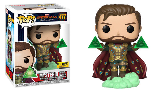 Funko Spider-Man Far From Home POP! Marvel Mysterio Exclusive Vinyl Figure #477 [Without Helmet, Damaged Package]