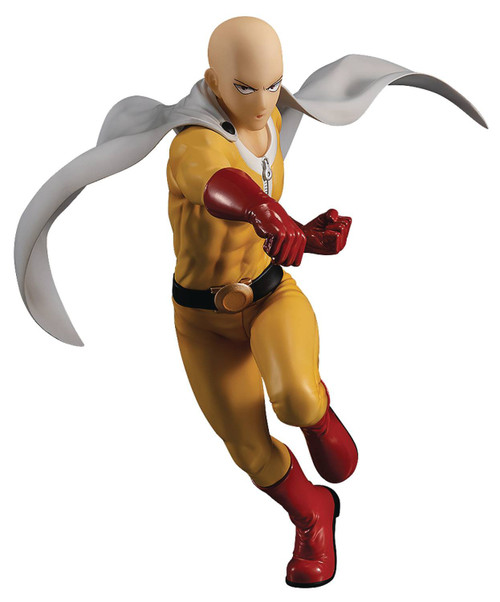 One Punch Man Pop Up Parade Saitama 6.5-Inch Collectible PVC Figure [Hero Costume]