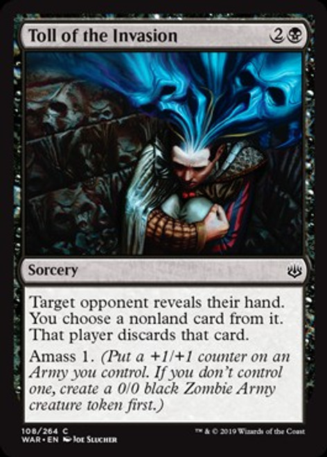 MtG War of the Spark Common Foil Toll of the Invasion #108