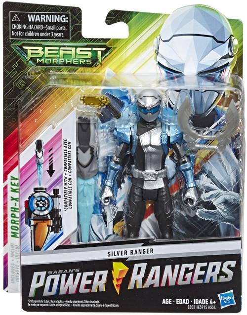 Power Rangers Beast Morphers Silver Ranger Basic Action Figure