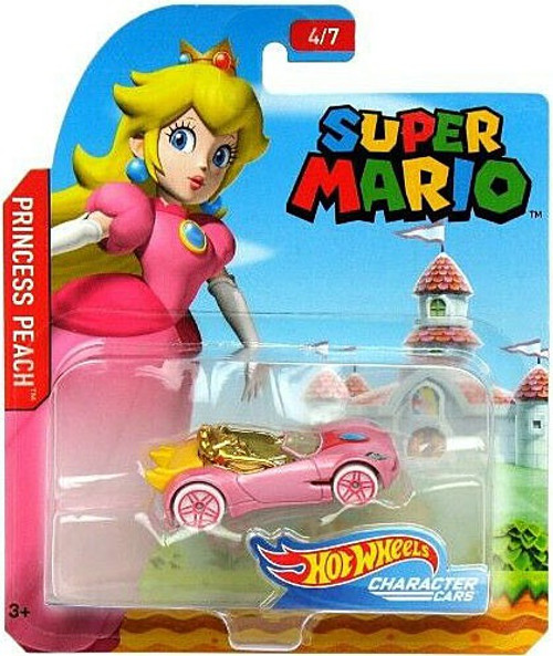 Hot Wheels Super Mario Princess Peach Diecast Car [4/7]