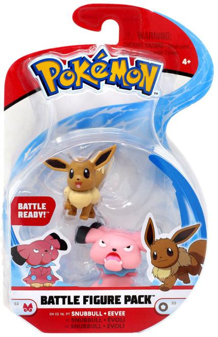Pokemon Series 3 Battle Figure Snubbull & Eevee 2-Inch Mini Figure 2-Pack