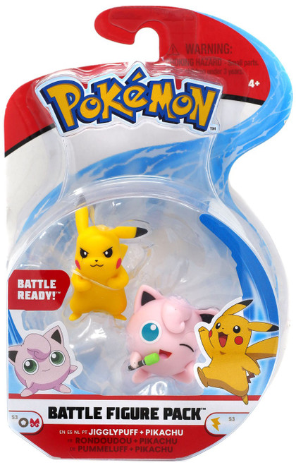 Pokemon Series 3 Battle Figure Jigglypuff & Pikachu 2-Inch Mini Figure 2-Pack