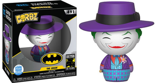 Funko DC 1989 Movie Dorbz The Joker Exclusive Vinyl Figure #491 [80 Years]