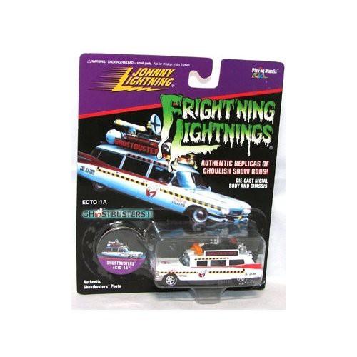 Ghostbusters II Frightning Lightning Ecto 1A Diecast Car ['59 Cadillac]