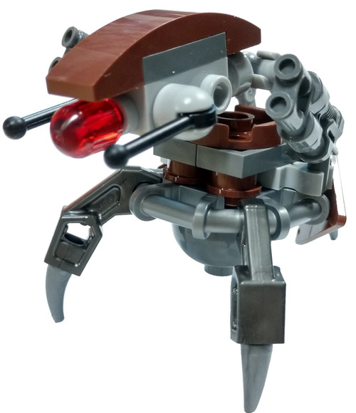 LEGO Star Wars Episode 1 Droideka Minifigure [Reddish Brown Triangles with Stickers Loose]