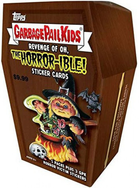 Garbage Pail Kids Topps 2019 Revenge of the Oh, The Horror-ible Trading Card Sticker BLASTER Box [5 Packs + 1 Bonus Pack]
