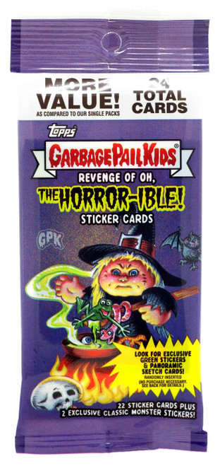 Garbage Pail Kids Topps 2019 Revenge of the Oh, The Horror-ible Trading Card Sticker VALUE Pack